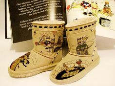 50% OFF THE LIST PRICE.  CONTACT ME FOR COUPON CODE.  Boots Hand Painted kids BEARPAW toddler by TheWoodsSecretGarden