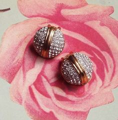 "Vintage ""Diamant"" Øreklips! Gull, Druzy Ring, Retro Vintage, Rings, Jewelry, Fashion, Diamond, Metal, Moda"