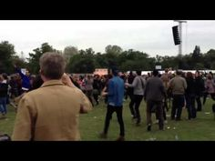 Flash mob dancing to Beirut on Field Day London 2012