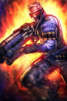Overwatch - Soldier 76 by AIM-art.deviantart.com on @DeviantArt