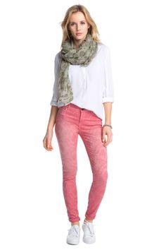 Esprit : Pantalones chinos jacquard, estilo vaquero en la Online-Shop