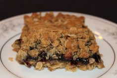 Blueberry Oatmeal Squares -- I could just eat the topping!