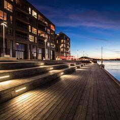 Lighting at Sørenga, Oslo, Norway. iGuzzini on Instagram. #iGuzzini #l #architecture #led