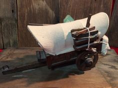 Western Wooden Covered Wagon
