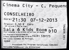 """Cinema: """"O Conselheiro"""" (The Counselor (2013)) @ Cinema City, Campo Pequeno, Lisboa, a 7 de Dezembro de 2013.   IMDB: http://www.imdb.com/title/tt2193215/"""