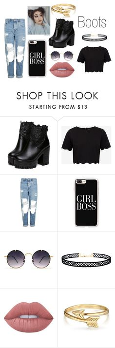 """""""Boots"""" by taylorgarcia-iii ❤ liked on Polyvore featuring Ted Baker, Topshop, Casetify, Spitfire, LULUS, Lime Crime and Bling Jewelry"""