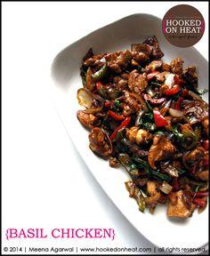 Thai Basil Chicken | http://www.hookedonheat.com