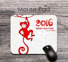 novel monkey 2016 new year quotes mouse pad - novel 2016 new year wishes mouse mat - office decor