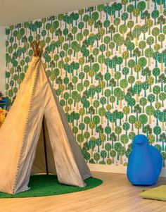 1-papel-de-parede-infantil-com-temas-vintage-e-de-floresta