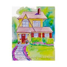 SPECIAL Custom House Ink and Watercolor by eringopaint on Etsy, $190.00