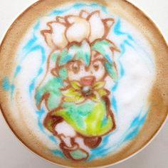 Color-latte-art-nowtoo-sugi Coffee Latte Art, Coffee Cups, Anime Coffee, Buy Instagram Followers, Edible Art, Color, Beans, Kawaii, Foods