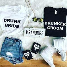 Drunk Bride after wedding/bachelorette shirt