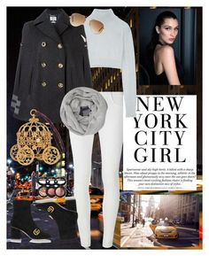 """""""NYC"""" by andrea-tatis on Polyvore featuring moda, Dorothy Perkins, Balmain, Tommy Hilfiger, Gucci, John Lewis, Laura Geller y Ray-Ban"""