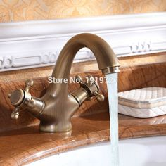 Luxury Classic Antique Inspired Solid Brass Deck Mount Two Handles Bathroom Sink Faucet Unique Designer Vanity Copper Mixer Taps. Yesterday's price: US $69.99 (57.34 EUR). Today's price: US $62.29 (50.92 EUR). Discount: 11%.