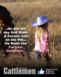 A Farmers Daughter is what I will always be.... Made me think of @Michelle Flynn Adyniec Duncan too