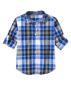 Roll Cuff Plaid Shirt at Gymboree (Gymboree 4-10y)