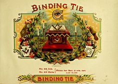 "Vintage /""Binding Tie/""  American Smoke Cigar Label Box Poster Art 13/"" X 19/"""