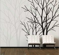 2 lover tree wall decals nature wall decals by annaandnana on Etsy, $79.00
