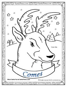 christmas reindeer printable coloring pages.html