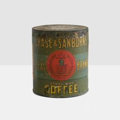 chase & sanborns coffee tin vintage coffee tin by homeandhomme
