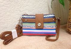 8fad497b1c0b Relic by Fossil Vicky Colorful Stripes Multi Function Wallet Crossbody Bag  Purse Color Stripes