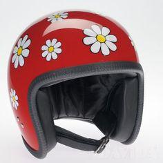 Davida speedster Helmets:  Complex Red Daisy  Product Code: 90536