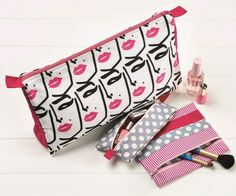 create your own cosmetic kit with a fabulous popart or polka dot style