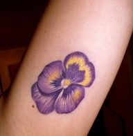 pansy tattoos  I would so get this, but Scott would kill me. I love Pansy's