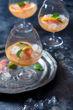 #Brandy #cocktails - #Goldleaf showing off the #citrus in the brandy. #foodstyling #foodphotography #recipes