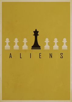 Minimalist print for the film, Aliens, by Chris Mesh. Love the conceptual aesthetic here. Perfect way to grab an element of the film and visualize it in a unique way.