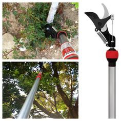"Who would have ever thought pruning would be fun or addictive? The Corona 65"" Long Reach Pruner with swivel head, rotates 360 degrees to position the blades right were you need them to make cuts high up in the trees or near the ground on low-growing shrubs. Weighing less than 3 pounds, it's power glide pump-action makes cutting easy and for maximum reach, it also has a pull handle at the base of pole to activate the cutting blade."