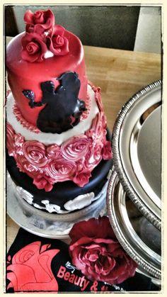 Beauty and the Beast cake.