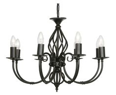 OAKS LIGHTING TUSCANY 8 LIGHT CEILING CHANDELIER In A HAND PAINTED FINISH (New)