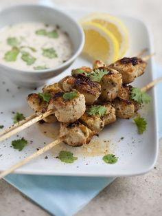 Poulet grillé mariné au yaourt - Recette de cuisine Marmiton : une recette