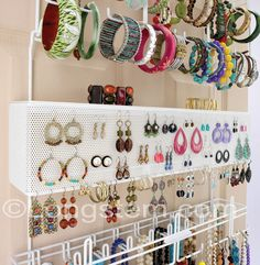 Wall Hanging Jewelry Organizer made from repurposed wood
