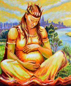 """""""Queen Jadwiga"""" Halina Kazmierczak - oil painting on canvas 50x60 cm,  """"Królowa Jadwiga Andegaweńska"""" Halina Kaźmierczak, obraz olejny 50x60 cm"""
