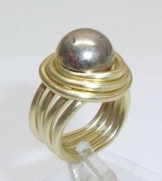 Aluminium Ring mit Kopfmuster Ring Gr 17 mm AR124 von Atelier Regina auf DaWanda.com