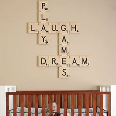 scrabble wall art by the style files, via Flickr
