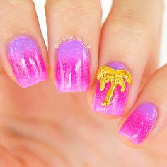 Summer Ombre Nails #summernails #ombrenails #nails
