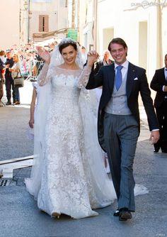Le prince Felix de Luxembourg et la princesse Claire (née Lademacher) lors de leur mariage religieux à Saint-Maximin-la-Sainte-Baume, le 21 septembre 2013