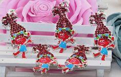 Trolls -Poppy-Rhinestone Pendant for Chunky Necklaces, 45 mm TrollsPendant, Chunky Pendant