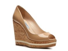 Prada Patent Leather Wedge Pump...I need these asap! GORGEOUS!
