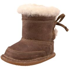 Nuborn Brandi Shearling Boot (Infant/Toddler),Tan,1 « Shoe Adds for your Closet