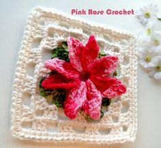 \ PINK ROSE CROCHET /: Granny Square