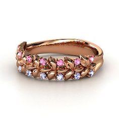 Laurel Ring, Rose Gold Ring with Tanzanite