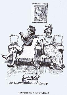 Mr. and Mrs. Bennet. Austen, Jane. Pride and Prejudice. London: George Allen, 1894, page 5.
