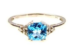 14K .76ct Blue Topaz Diamond Ring. Get the lowest price on 14K .76ct Blue Topaz Diamond Ring and other fabulous designer clothing and accessories! Shop Tradesy now