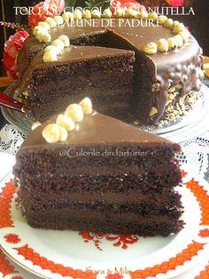 » Tort de ciocolata cu nutella si alune de padureCulorile din Farfurie Nutella, Tiramisu, Ice Cream, Cake, Ethnic Recipes, Desserts, Food, Christmas, Sweets