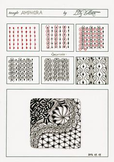 """Lily's Tangles: My new Tangle Pattern """"Amphora"""""""