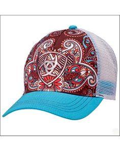 Ariat® Ladies' Turquoise Bill Paisley Cap